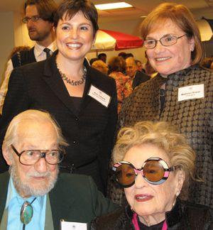 Bel Kaufman with Ann Toback, Madelon Braun and Sidney Gluck.