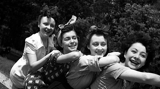 Pique-Nique for Four: From left, Odette Joyeux, Elina Labourdette and Michelie Francey with Sylvia Bataille who appeared in the 1936 Jean Renoir film 'A Day in the Country.'