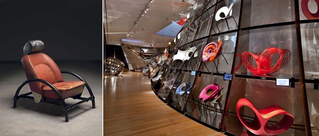 No Single Discipline: Ron Arad?s work is on view at the Museum of Modern Art (above). At left, his iconic Rover Chair.