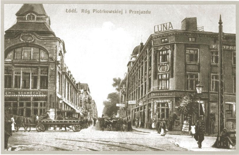 a 1918 postcard of Lodz.