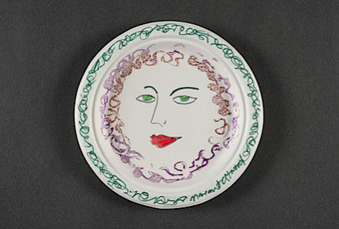 A plate designed by Margaret Atwood