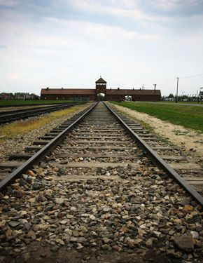 Final Destination: Two Canadian teachers were arrested for allegedly stealing spikes from the railway tracks at Auschwitz.