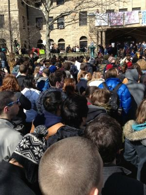 Jewish students march against hatred at Oberlin College in Ohio.