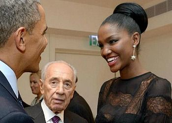 Meeting Mr. President: Miss Israel Titi Aynaw meets her ?role model.?