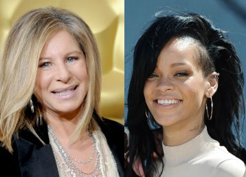 Dynamic Duo?: Barbra Streisand (left) and Rihanna