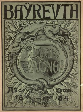 Cover to the Bayreuth Festival brochure of 1884, the year after Richard Wagner?s death.