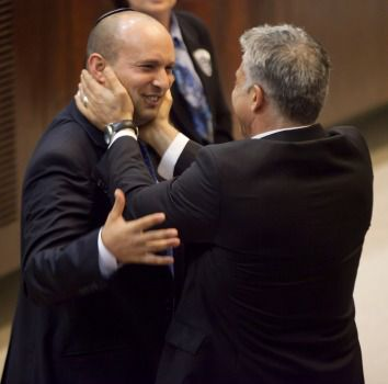 Brothers? Naftali Bennett (left) and Yair Lapid in happier times.