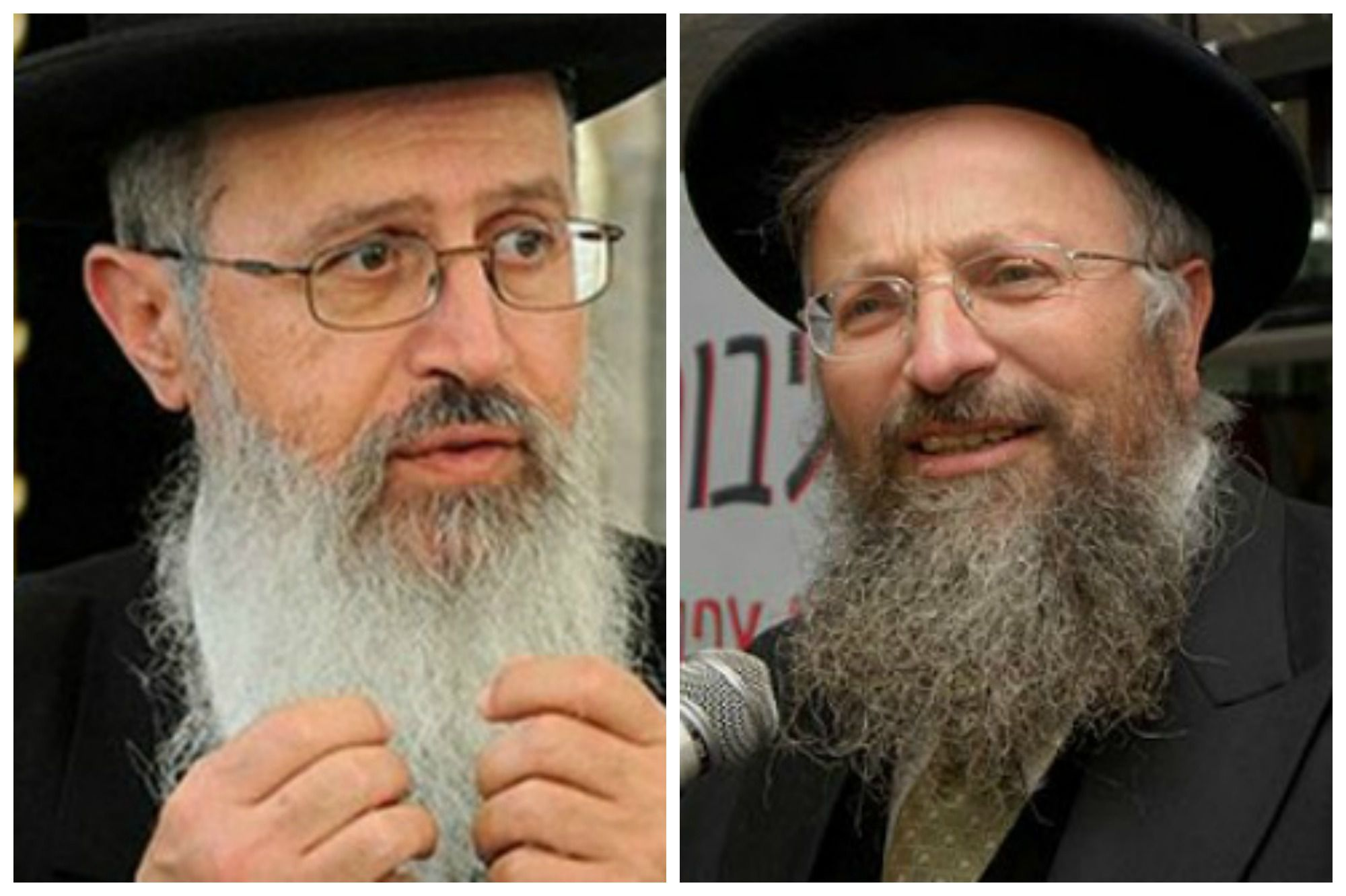 Rabbi Avraham Yosef (left), Rabbi Shmuel Eliyahu