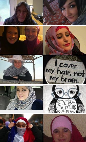 A snapshot of the ?One Million Hijabs? page.