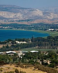 A view of Israel?s Sea of Galilee.