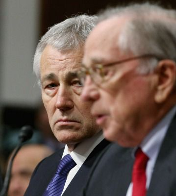 Chuck Hagel introduced at confirmation hearing by ex-Sen. Sam Nunn, Jan. 31, 2013.