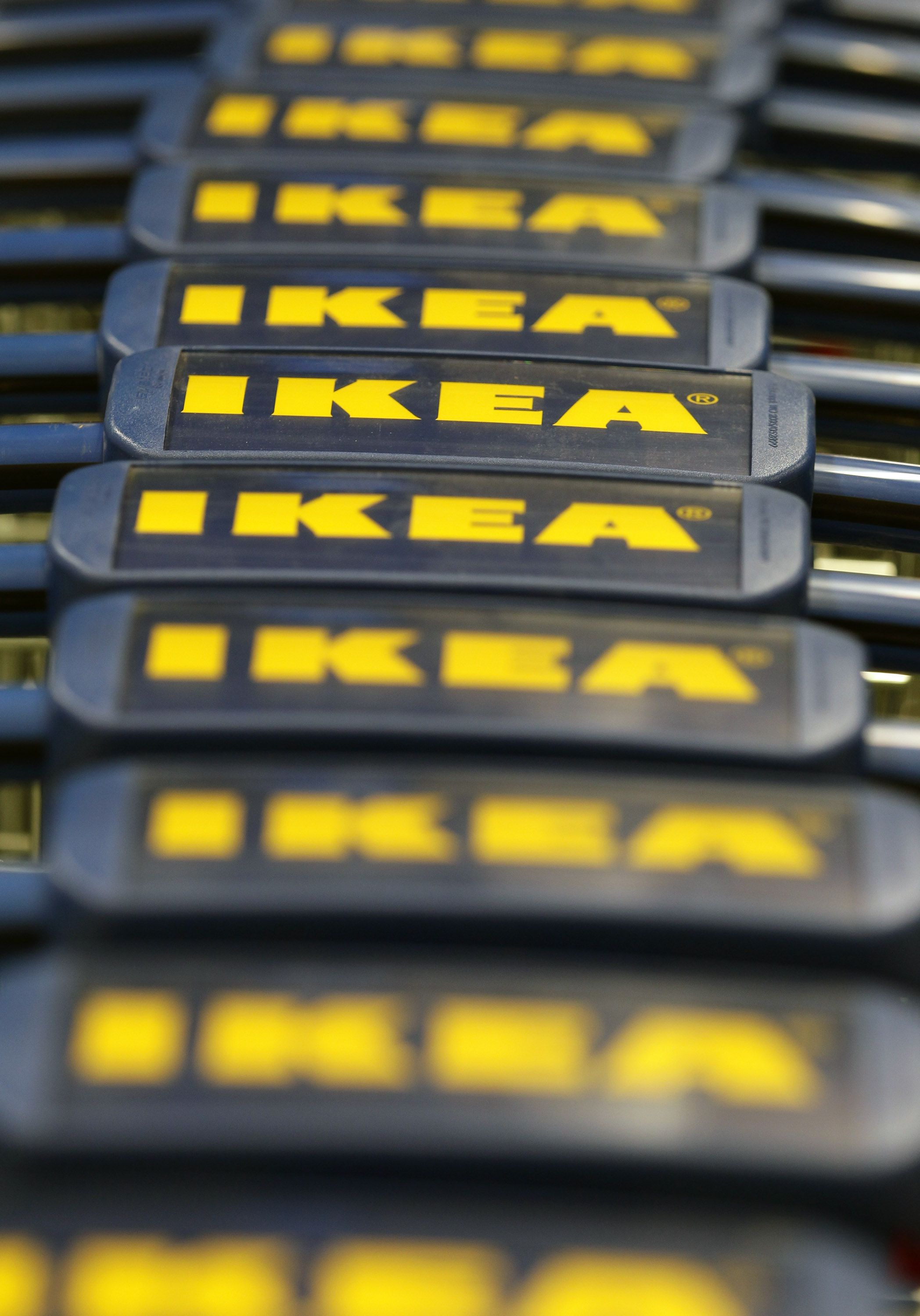 Shopping carts at Ikea Berlin.