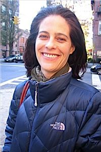Julia Watt-Rosenfeld said turnout at her polling place was much heavier two years ago.