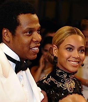 The happy parents of Blue Ivy