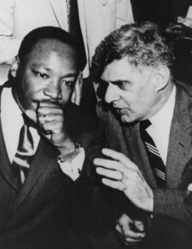 Martin Luther King Jr. and AFSCME president Jerry Wurf strategize during Memphis sanitation workers? strike, March 1968.
