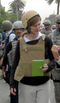 Samantha Power in Iraq, 2009