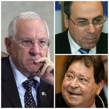 Clockwise from left: Reuven Rivlin, Silvan Shalom, Binyamin Ben-Eliezer