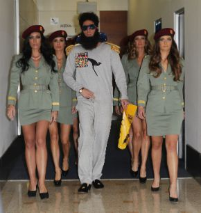 ?The Dictator? arrives in Sydney, Australia.