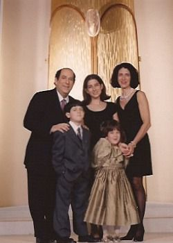Writer Caroline Rothstein with her family at her Bat Mitzvah.