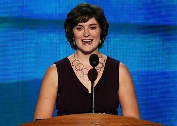 Sandra Fluke speaking at the DNC