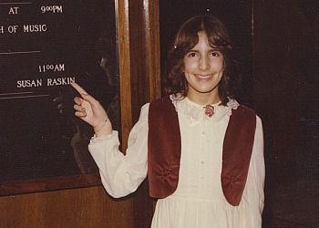 Writer Gloria Ehrlich Raskin?s daughter, Susan, at her Bat Mitzvah in 1980.