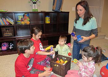 Nina Badzin helps her kids whittle down their toys.