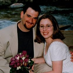 Andrew and Jennifer Walen on their wedding day, April 29, 2000.