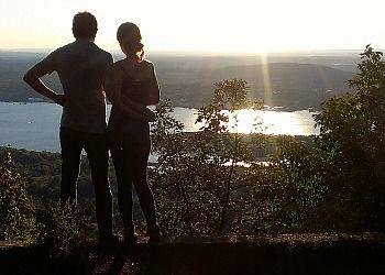 Zivar Amrami and her fiancé