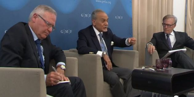 Left to right: Amos Yadlin, Prince Turki al-Faisal, David Ignatius.