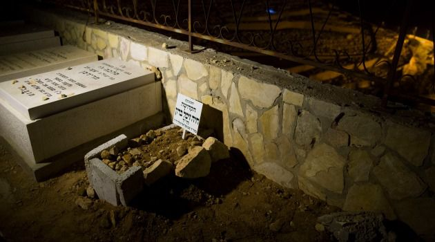 Holy Child: The grave of Chaya Zissel Braun, the infant who was killed in a terror attack.