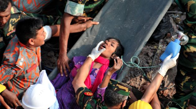 Rare Survivor: On May 10, Bangladeshi rescuers retrieved garment worker Reshma from the rubble, 17 days after an eight-storey building collapsed.