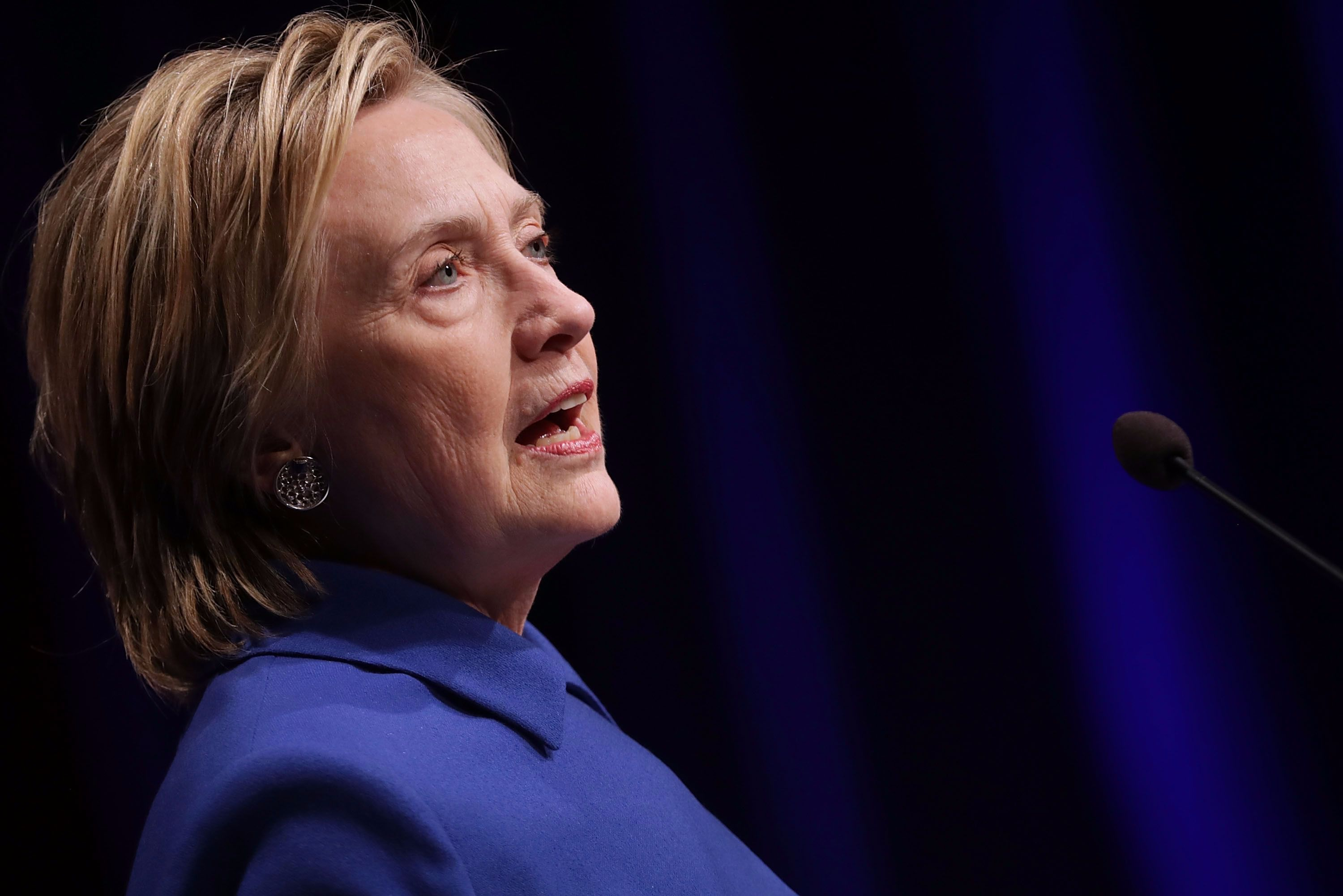 A photo of Hillary Clinton, post-election, but possibly not post-Sephora.