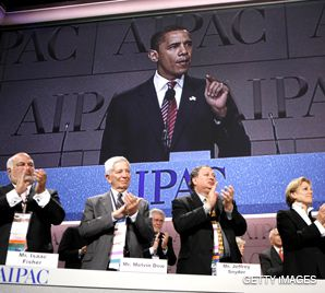 GIVING HIM A HAND: A day after defeating Hillary Clinton in the Democratic primaries, presumptive nominee Barack Obama was welcomed by delegates to the American Israel Public Affairs Committee?s annual policy conference.