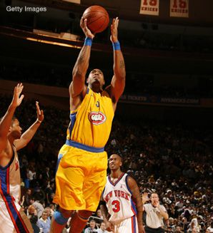 Maccabi Tel Aviv played an exhibition game against the New York Knicks.