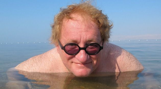 Bathing For Peace: Tuvia Tenenbom takes the waters in the Dead Sea.