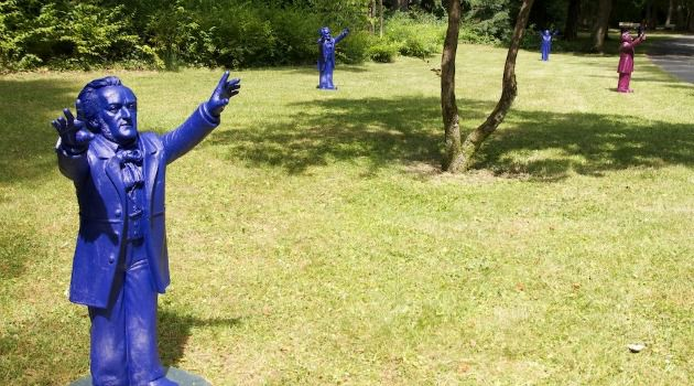 Blue Man Group:  This year, Wagner gnomes are ubiquitous at the Bayreuth Festival.