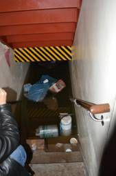 After Hurricane Sandy the home was flooded and heavily damaged.