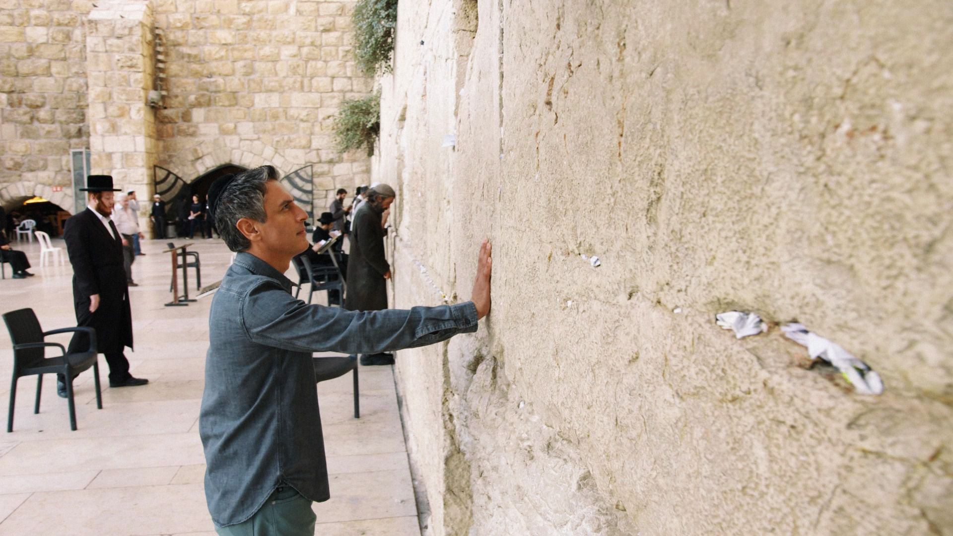 Reza Aslan at the Western Wall.