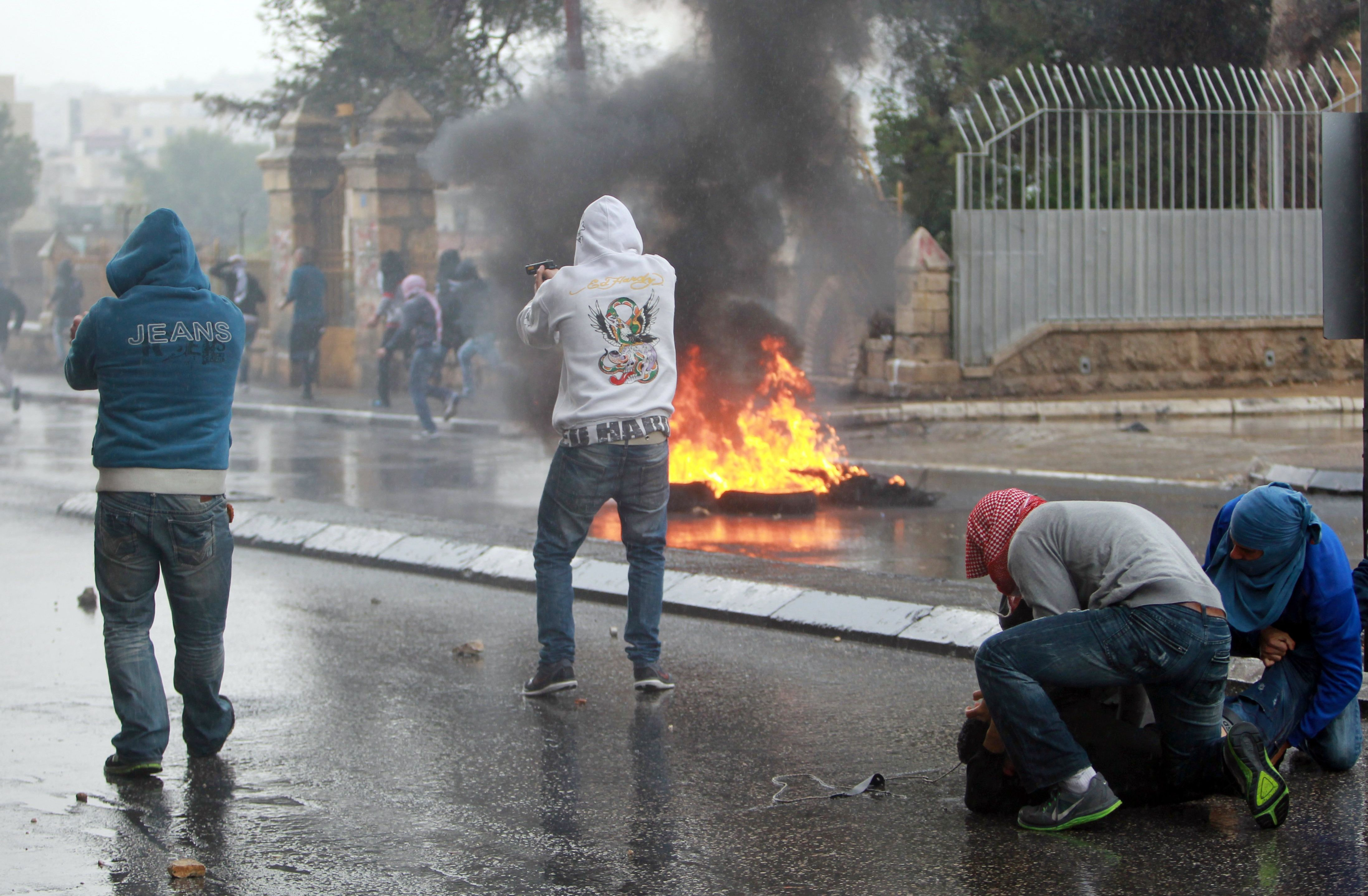 A classh in November in Bethlehem./