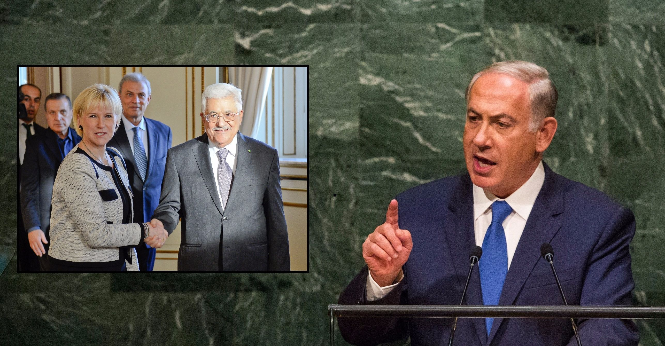 Netanyahu has condemned remarks by Sweden's Foreign Minister.