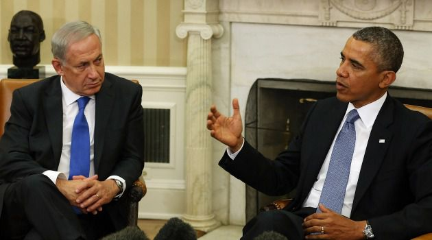 Compromise: President Obama and Prime Minister Benjamin Netanyahu (pictured here in 2013) met on Monday morning to discuss the U.S.-brokered peace framework and Iran.