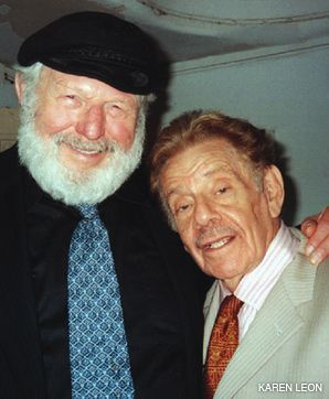 YIDDISHISTS: Theodore Bikel (left) and Jerry Stiller at the Folksbiene benefit.