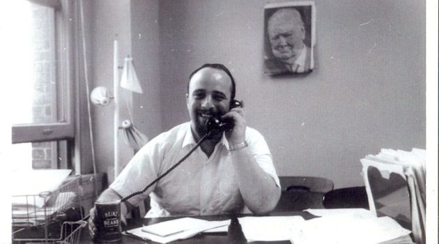 Happy Warrior: Yaakov Birnbaum in his office in September 1965.