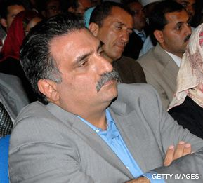 IN EXILE: Former Knesset member Azmi Bishara, leader of the Balad Party, attending a seminar on the Middle East conflict last May in Sanaa, Yemen. He fled Israel in 2007 while under investigation.