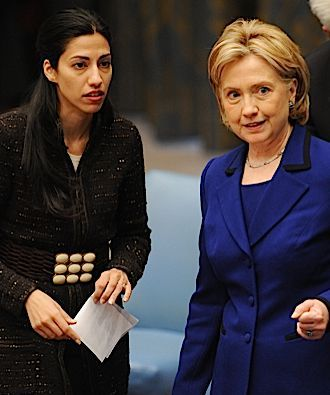 Huma Abedin with her boss, Hillary Clinton.