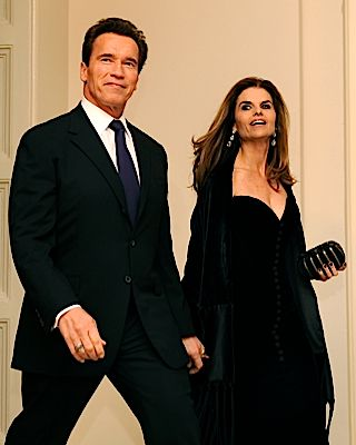 Arnold Schwarzenegger and Maria Shriver, in happier times.