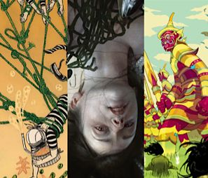 Images by Yuko Shimizu, Sam Weber and Tomer Hanuka at the Society of Illustrators.