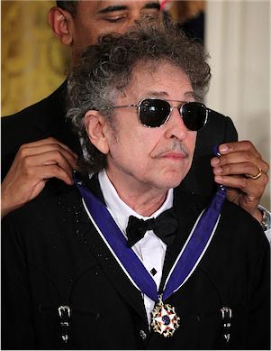 Bob Dylan receives the Presidential Medal of Freedom in 2012.