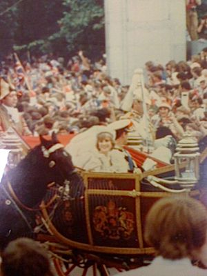 Princess Diana and Prince Charles, on the way back from St. Paul?s Cathedral, 1981