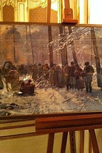 Recoverd at Last: Julian Falat?s ?The Hunt? on display at Polish Consulate in New York. The painting, which was looted by the Nazis, was recovered after a court battle.